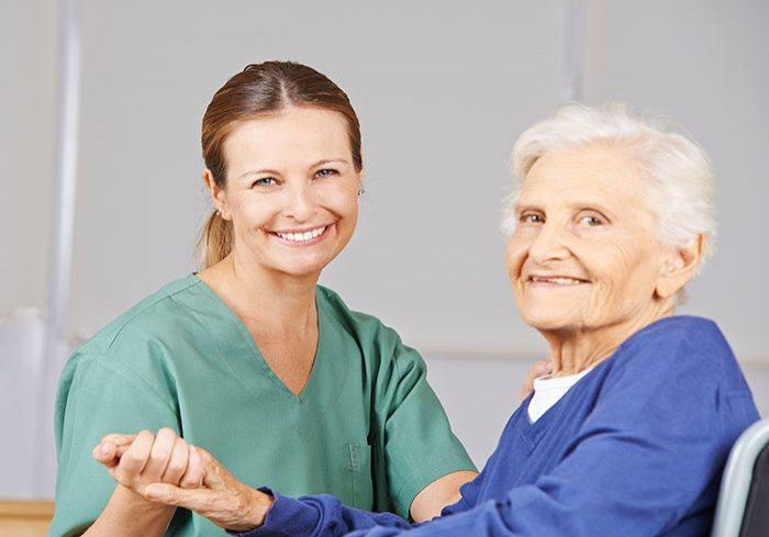 Carer with patient